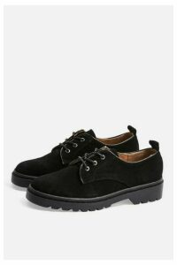 Womens Fire Leather Lace Up Shoes - Black, Black