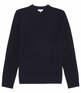 Reiss Bothwell - Seam Detail Long Sleeved Top in Navy, Mens, Size XXL