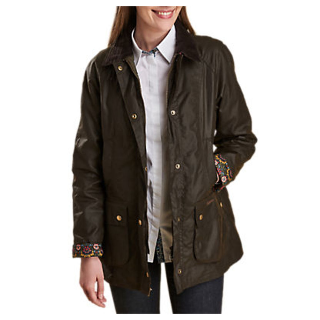 Barbour Abbey Liberty Waxed Jacket, Olive