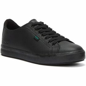 Kickers  Black Leather Tovni Lacer Trainers  women's Shoes (Trainers) in Black