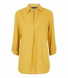 Mustard Pocket Front Shirt New Look