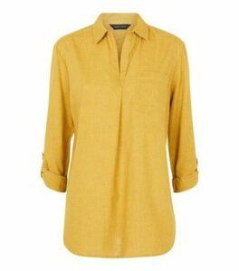 Mustard Pocket Front Shirt New Look