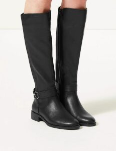 M&S Collection Elastic Back Rider Knee Boots