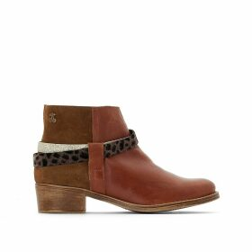 Brook Leather Ankle Boots with 4cm Heel