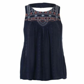 SoulCal Embroidered Lace Top Ladies - Navy