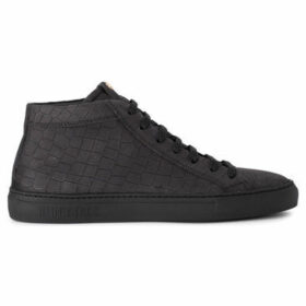 Hide jack  Essence Croco black nubuck sneaker  women's Shoes (High-top Trainers) in Black