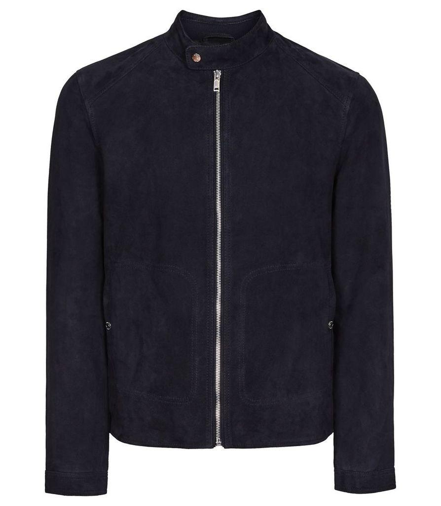 Reiss Jacob - Suede Jacket in Navy, Mens, Size XXL