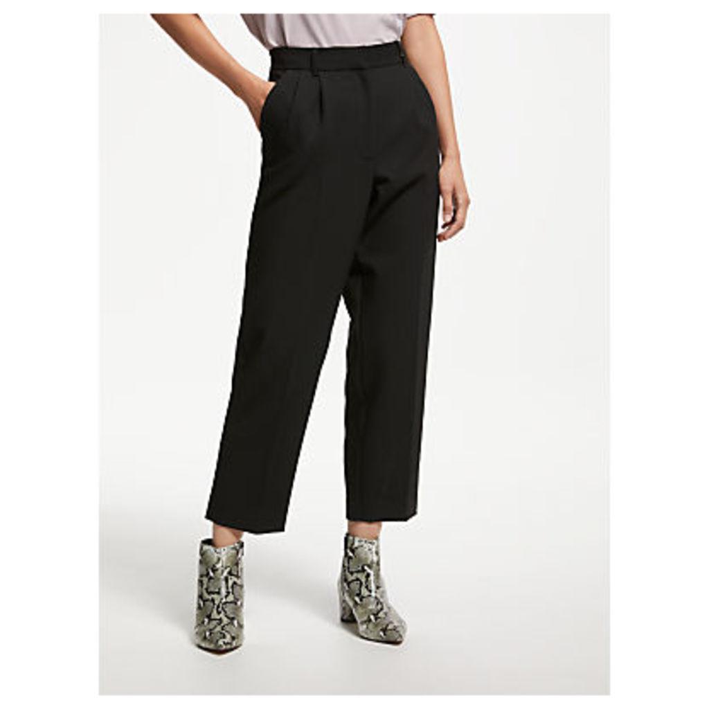 Finery Maya Tapered Trousers, Black