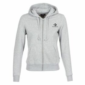 Converse  CONVERSE STAR CHEVRON EMBROIDERED FZ HOODIE  women's Sweatshirt in Grey