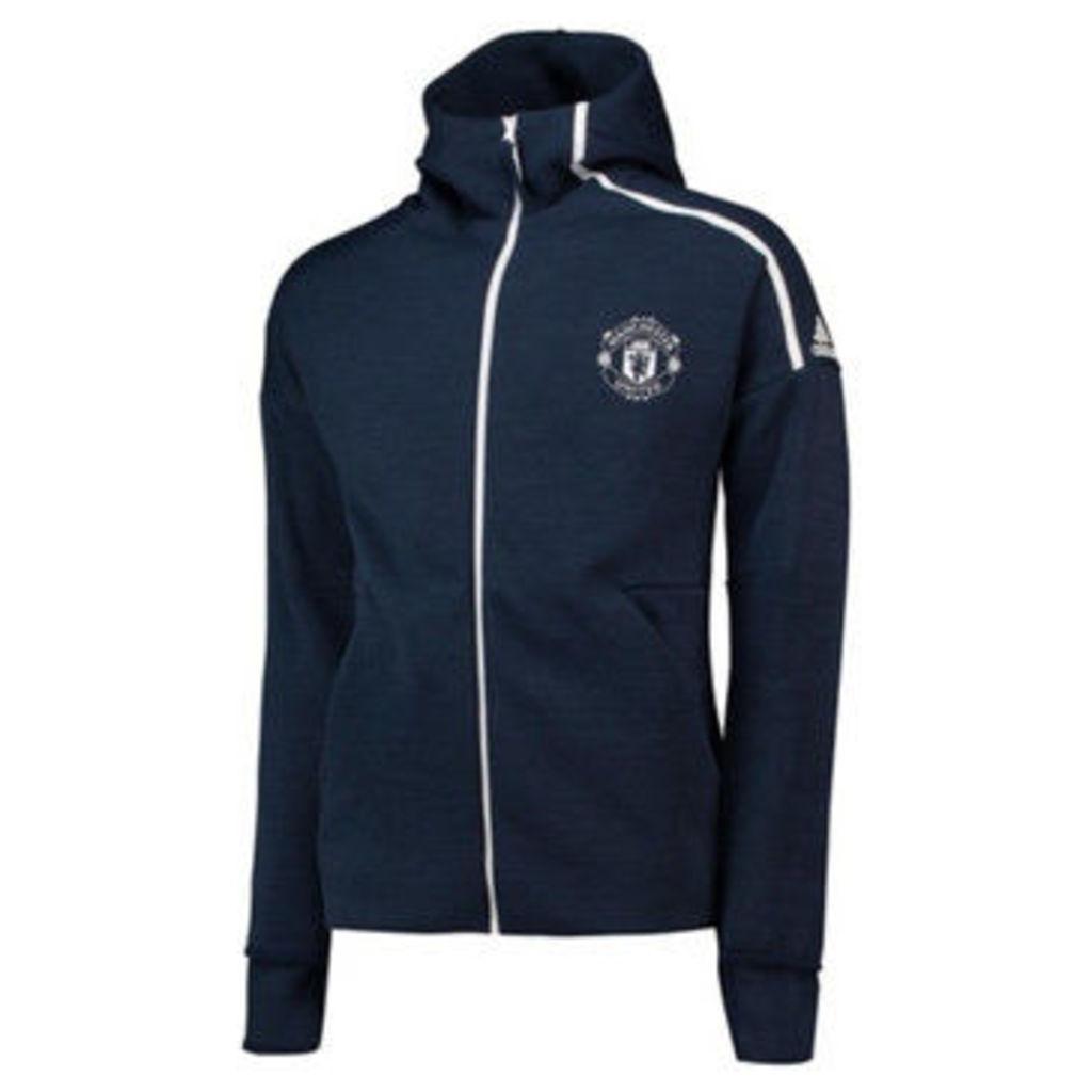 adidas  2018-2019 Man Utd Zne 3.0 Anthem Jacket  women's Tracksuit jacket in Blue
