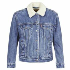 Levis  EX-BF SHERPA TRUCKER  women's Denim jacket in Blue