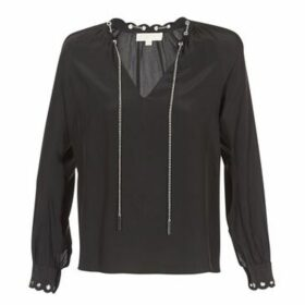 MICHAEL Michael Kors  SCALLP GRMT CHAIN TOP  women's Blouse in Black