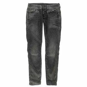 G Star Raw Lynn Mid Skinny Ladies Jeans - 3d dk aged cobl
