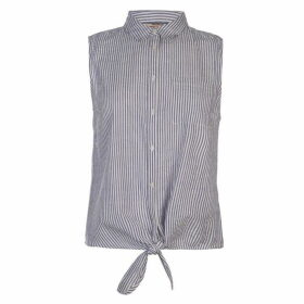SoulCal Tie Blouse Ladies - Blue Stripe