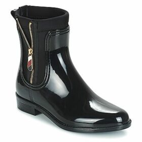 Tommy Hilfiger  MATERIAL MIX RAIN BOOT  women's Wellington Boots in Black
