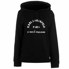 Karl Lagerfeld Logo Address Hoody - Black