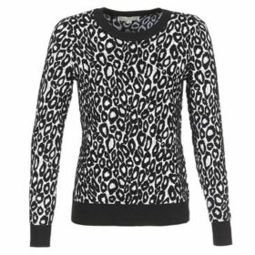 MICHAEL Michael Kors  ANIMAL JACQD LS CREW  women's Sweater in Black
