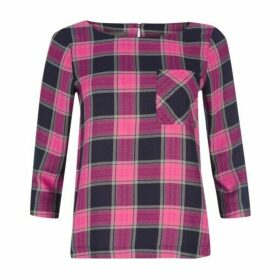 Checked Popover Blouse