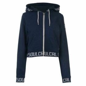 SoulCal Crop Branded Hoodie - Navy