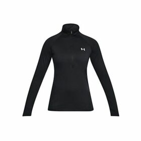 Under Armour Tech Long Sleeve Half Zip Training Hoodie, Black/Metallic