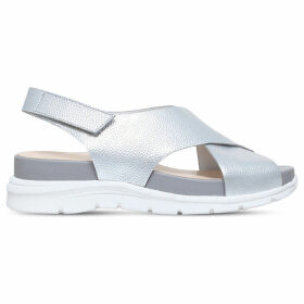 Nine West Vizara leather sandals, Women's, Size: EUR 41 / 8 UK WOMEN, Silver