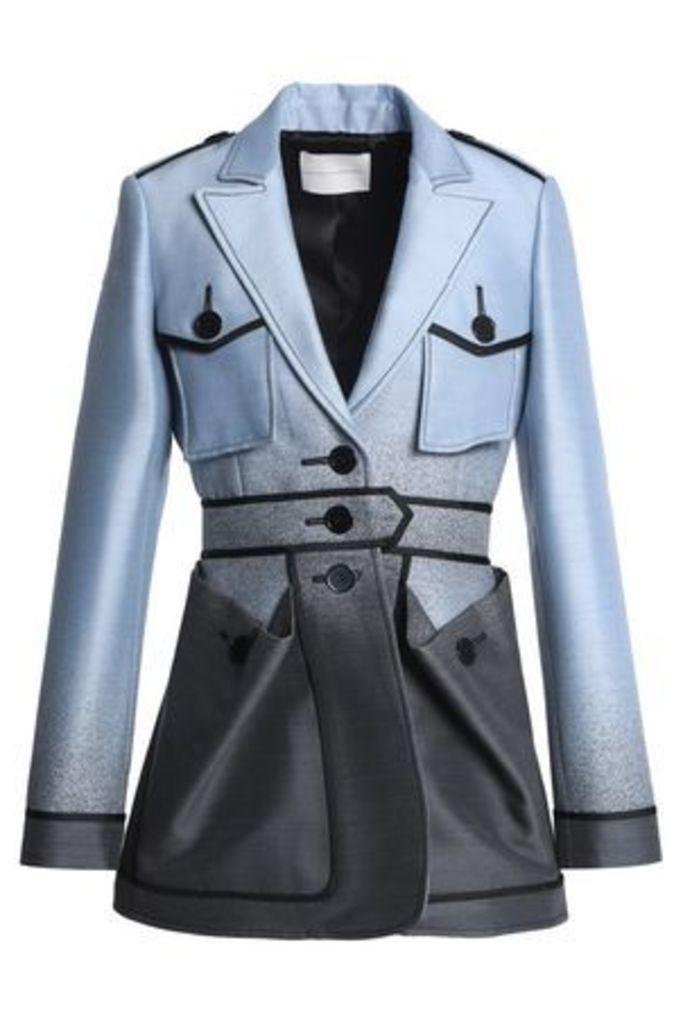 Marco De Vincenzo Woman Dégradé Wool And Silk-blend Jacket Light Blue Size 44