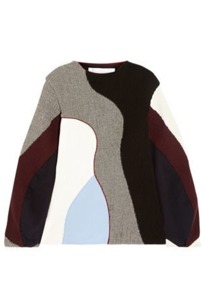 Victoria Beckham Woman Color-block Ribbed-knit Sweater Multicolor Size 1