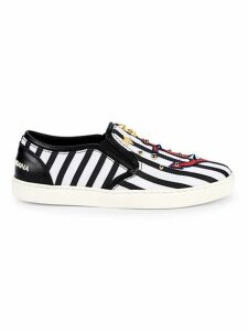 Studded Stripe Slip-On Sneakers