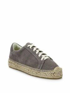 Canvas Lace-Up Espadrille Platform Sneakers