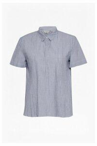 Sunny Stripe Pleated Shirt