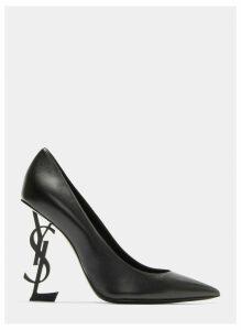 Saint Laurent Opyum 110 Logo Heel Pumps in Black size EU - 39.5