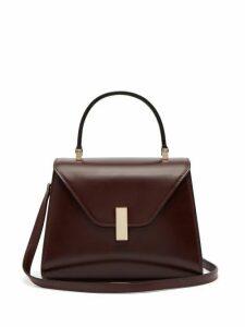 Valextra - Iside Mini Leather Bag - Womens - Burgundy