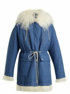 Calvin Klein 205w39nyc - Reversible Cotton And Shearling Parka - Womens - Blue White