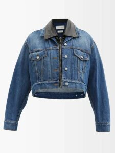 Allude - Half Zip Ribbed Cashmere Sweater - Womens - Red
