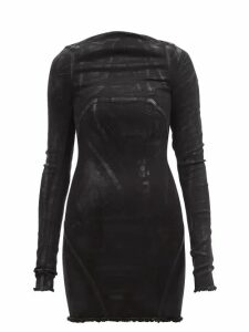 Chloé - Geometric-print Silk Crepe De Chine Blouse - Womens - Yellow Print