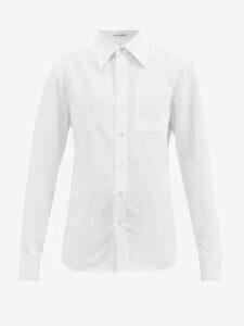 Craig Green - Hooded Cotton Shirt - Womens - Blue Stripe