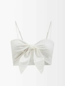 Ashish - Leopard-print Sequined Top - Womens - Brown