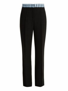 Wales Bonner - Tailored Trousers - Womens - Black Blue