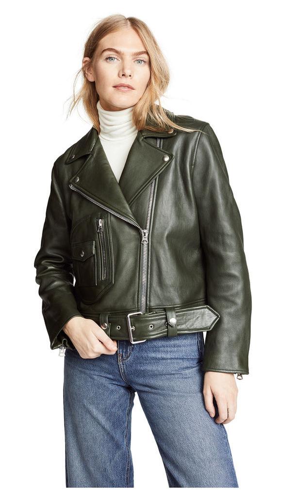 Acne Studios Classic Leather Jacket