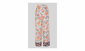 Floral Border Print Trouser