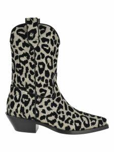 Dolce & gabbana Dolce & Gabbana Leopard Print Gaucho Boots