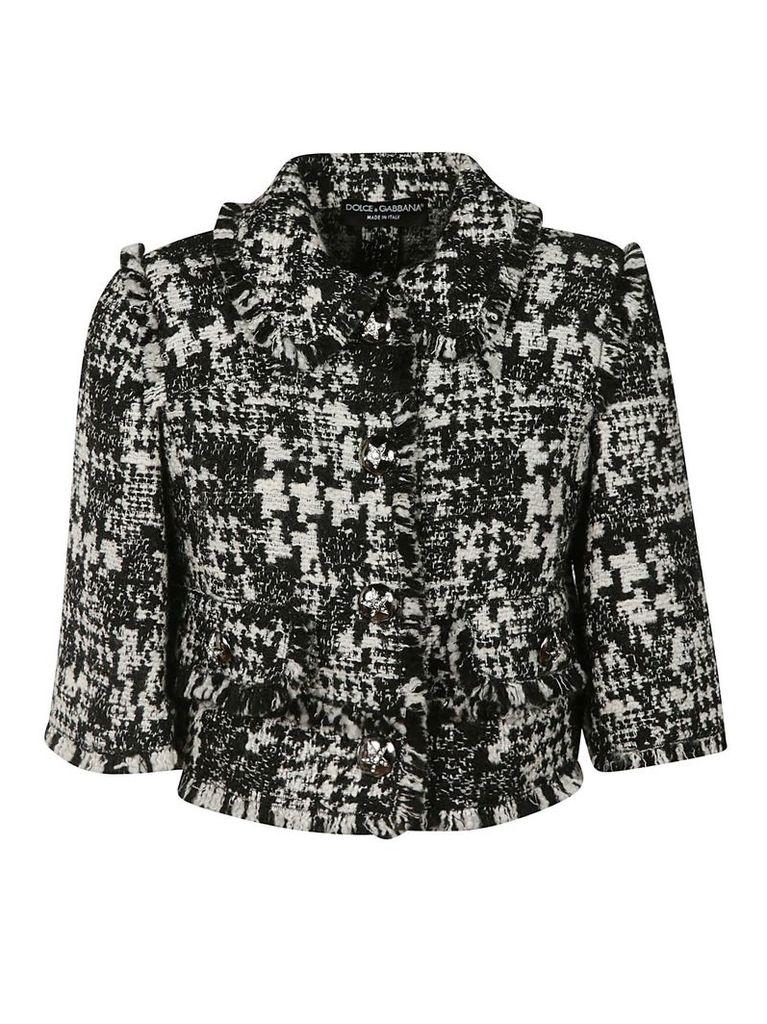 Dolce & Gabbana Raw Detail Boxed Jacket