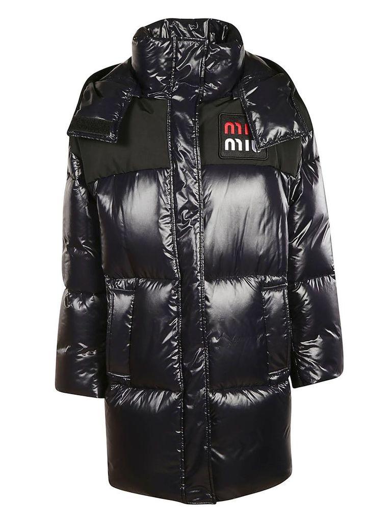 Miu Miu Logo Patch Padded Jacket