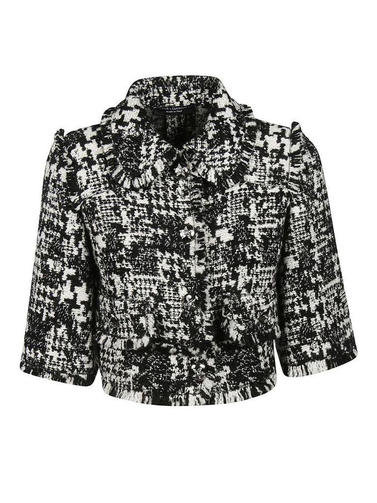 Dolce & Gabbana Fringed Cropped Jacket