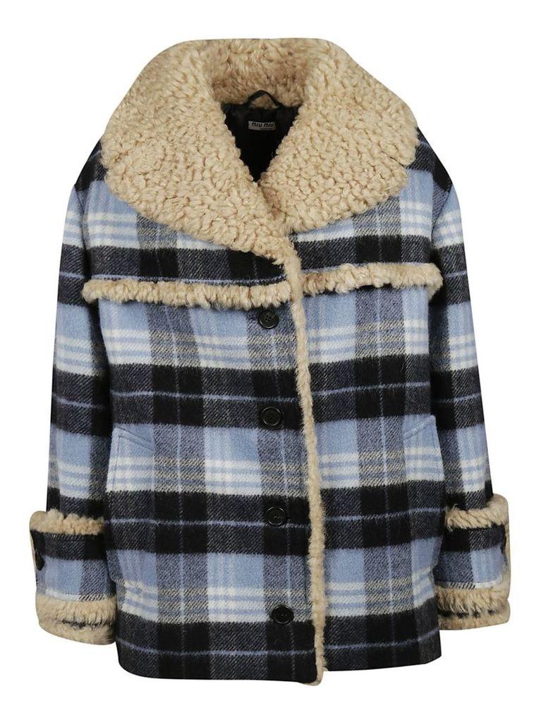 Miu Miu Oversized Printed Fur Jacket
