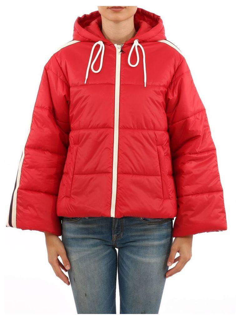Gucci Red Short Nylon Jacket