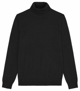 Reiss Caine - Merino Wool Rollneck in Black, Mens, Size XXL