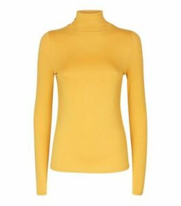 Mustard Roll Neck Top New Look