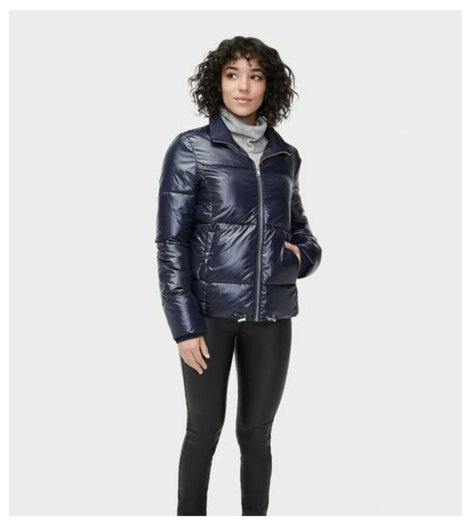UGG Izzie Puffer Jacket Nylon Womens Outerwear Navy XS
