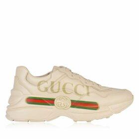 Gucci Rhyton Fake Logo Leather Trainers